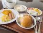 朝食バイキングの一例:画像と違ったメニューをご提供する場合もございます。