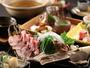 【海鮮しゃぶしゃぶ】金目鯛、わらさ、ヤリイカ等の魚介類をしゃぶしゃぶでご堪能。