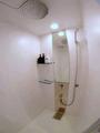 ヘッドシャワーもついているちょっと豪華なシャワー完備