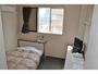 全室セミダブルベッドのゆったりとしたシングルルーム
