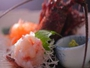 伊勢海老のお刺身、プリップリの活きの良さ!甘くてあの食感がたまらない!