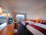 東側ラージツインルーム(35平米)。客室からは若草山を望めます。