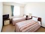 ツインルーム     Bed Size : 98cm×195cm 15平米