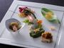 【美湖膳】<前菜>美才豊かな料理長の料理は女性に特に食べていただきたい。春の一例