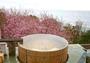 大海原を見渡す絶景の野天風呂。お花見露天は春先だけのとっておき!(例年2月下旬-3月上旬)