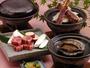 【夕食】選べる焼物(アワビ、カニ、和牛)