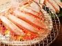 【蟹コース・焼カニ】香りがとてもよく、身が引き締まっています。