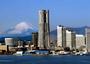 横浜みなとみらいの風景。一番背の高いビルに横浜ロイヤルパークホテルはございます