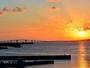 ホテルより望むサンセットとエメラルドブル-海に架かる伊良部大橋(全長3540m)
