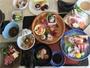 和食会席料理全10品:富士桜ポーク豆乳仕立て鍋・季節の焼物・和牛陶板焼きなど