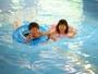 温泉プールなので一年中遊べます♪