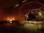離れの露天風呂・道後御茶屋「岩風呂」夜