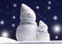 雪だるまも温泉と星空が大好きかもしれません?