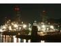 夜の海上自衛隊呉基地