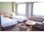 ツインルームCタイプ29.00平米のお部屋【ホテル北側(追手筋通り側)】利用人数1人-3人