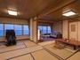 太平洋を一望する広い客室