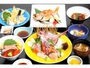 「のどぐろ付夕食プラン」のどぐろ1匹の焼物、他に刺身や天ぷら、蟹いくら丼も付いた豪華絢爛なプラン♪