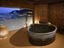 貸切風呂(お宮の湯)。バリアフリーにも配慮しています。