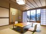 客室一例(和室12畳)和室10畳+広縁付の南向きのお部屋
