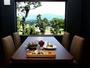 レストラン四季農-夕食はゆっくりと景色を堪能いただいて、季節の会席をどうぞ