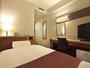 スタンダードシングルルーム広さ12平米ベッド幅 123cm
