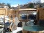 貸切露天風呂【望槍釜の湯(冬)】名前の通りの眺望です!