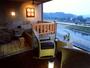 [露天風呂付客室] 露天風呂一例 :眼下に日本三急流球磨川を一望