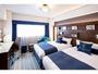 【ツインルーム】ゆったり26平米のお部屋はご家族やカップル利用に最適です。