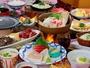 牛肉カットステーキ・上州地鶏つくねの塩ちゃんこ鍋・ざる豆腐【満腹会席】ある日の一例