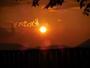 雄大な阿蘇の山々が夕陽に照らされとても美しい館内からの眺めです