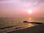 伊勢湾に沈む夕陽