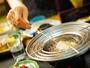 【ひびき野旬菜会席】旬の食材をご自身で揚げて食べるオイルフォンデュ「五四季揚げ」
