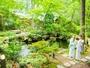 【如心の里ひびき野】広大な敷地を持つ庭でマイナスイオンを浴びる