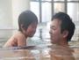 大きなお風呂は、お子様も大喜び。