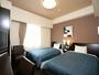 ツインルーム:広々したお部屋で快適に過ごせます。ご旅行などのご利用に最適です♪