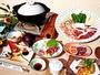 すべての料理に当館の温泉水を使用。評判の「温泉鍋」や「温泉コーヒー」がお勧め。