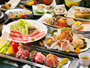 黒毛和牛、さつま地鶏、黒豚-。地元ブランド肉に舌鼓。朝獲れの≪旬魚≫はお造り、しゃぶしゃぶで-。