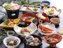 *お食事(夕食・一例)/毎日市場で仕入れている、新鮮な地元や県食材中心の田舎料理をご提供。