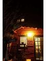 夜の玄関前