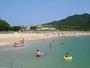 目の前!城ノ浜海水浴場