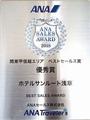 ANA様より2018年度の旅行パック送客実績で関東エリア第2位。過去のJAL様を含め4年連続の受賞