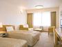 *【部屋一例/ツイン26平米】ベッドでぐっすりとお休みいただけます。