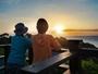スカイデッキから見る「海から上がる朝日」(特別室)