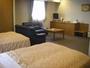 広々41.6平米のツインルーム(全室セミダブルベッド)