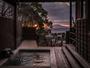 【別荘:閑-kan-】露天風呂から望む夕焼け。美しい景観も独り占めに