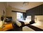 ツインルーム:20平米に110cm幅のベッドが2台/お友達同士で会話も弾む寛ぎのツインルーム♪