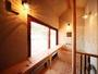 温泉付き客室【かえで】の檜風呂♪