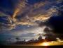 東シナ海に沈む夕陽