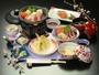 夕食一例です。旬の食材をふんだんに使い、お客様の心も体も温めるような料理にしました!