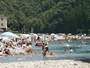 夏の川湯温泉(冨士屋前の写真)